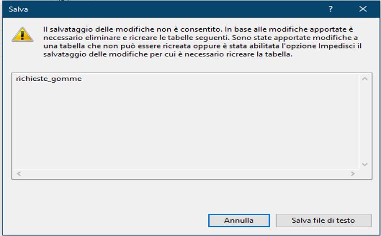 Sql Server – Salvare una Tabella dopo….